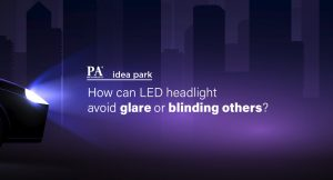 How can LED headlight avoid glare or blinding others?