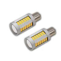PA LED 135 SMD BAU15D 1157 YELLOW Turn Signal LED Light Bulbs Lens Brake LED Light 01